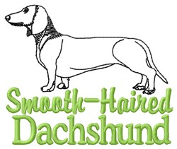 Outline Dachshund embroidery design