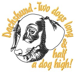 Two Dogs Long embroidery design