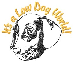 Low Dog World embroidery design