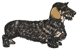 Wire-Haired Dachshund embroidery design