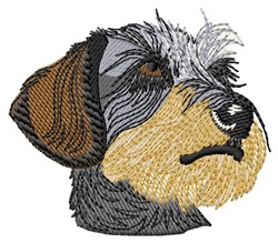 Dachshund Face embroidery design