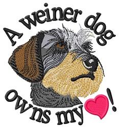 A Weiner Dog embroidery design