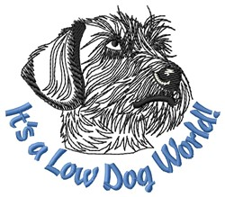 Low Dog embroidery design