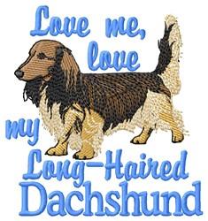 Love Dachshund embroidery design