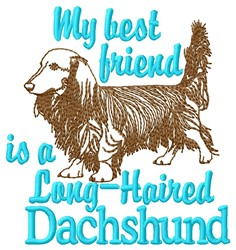 Dachshund Friend embroidery design