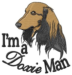 Doxie Man embroidery design