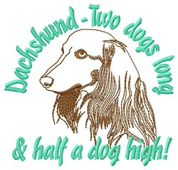 Half Dog High embroidery design