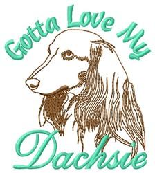 Love My Dachsie embroidery design