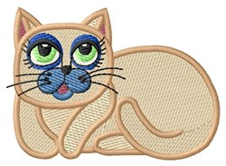 Curious Kitty embroidery design