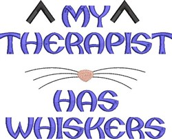 Therapist Whiskers embroidery design