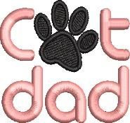 Cat Dad embroidery design