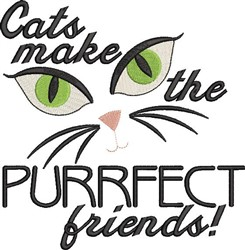 Purrfect Friends embroidery design