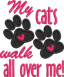 Cats Walk embroidery design