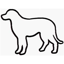 Labrador Outline embroidery design