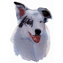 Aussie Shepherd embroidery design