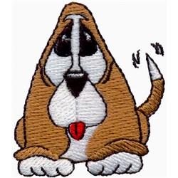 Basset Hound Puppy embroidery design
