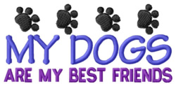 Dogs Best Friends embroidery design