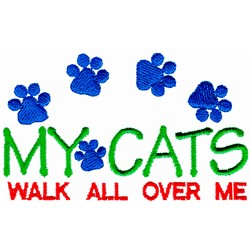 My Cats Walk embroidery design