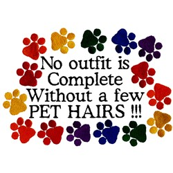 A Few Pet Hairs embroidery design
