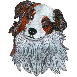 Aussie Face embroidery design