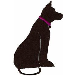 Dog Sillhouette embroidery design