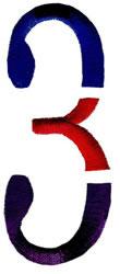 Triple Deck 3 embroidery design