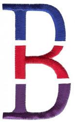 Triple Deck B embroidery design