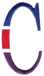 Triple Deck C embroidery design
