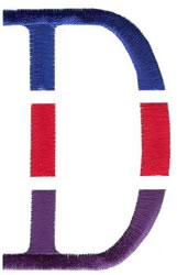 Triple Deck D embroidery design
