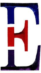 Triple Deck E embroidery design