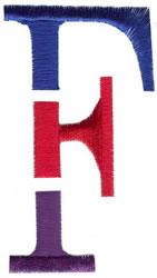 Triple Deck F embroidery design