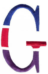 Triple Deck G embroidery design