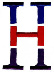 Triple Deck H embroidery design