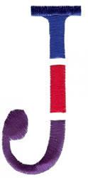 Triple Deck J embroidery design