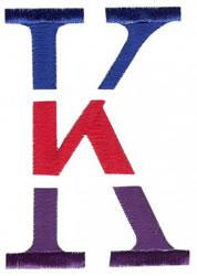 Triple Deck K embroidery design