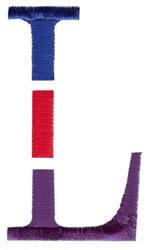Triple Deck L embroidery design