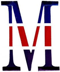Triple Deck M embroidery design