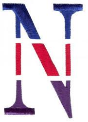 Triple Deck N embroidery design