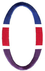 Triple Deck O embroidery design