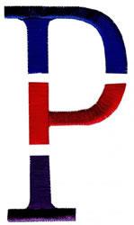 Triple Deck P embroidery design