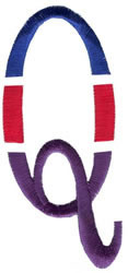 Triple Deck Q embroidery design