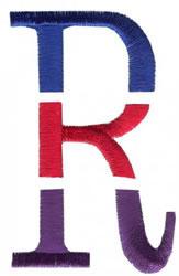 Triple Deck R embroidery design