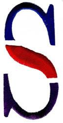 Triple Deck S embroidery design