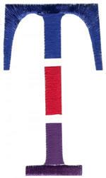 Triple Deck T embroidery design