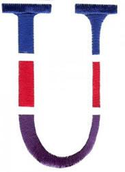 Triple Deck U embroidery design