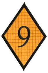 Diamond Applique 9 embroidery design