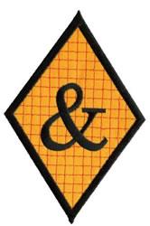 Diamond Applique Ampersand embroidery design