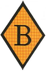 Diamond Applique B embroidery design