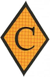 Diamond Applique C embroidery design