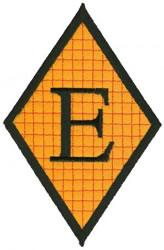 Diamond Applique E embroidery design